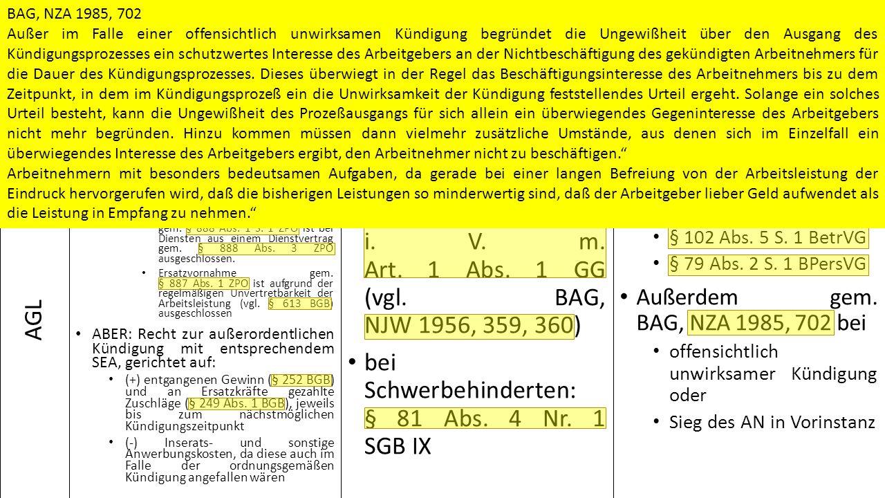 Pflicht zur Arbeit § 611 Abs.