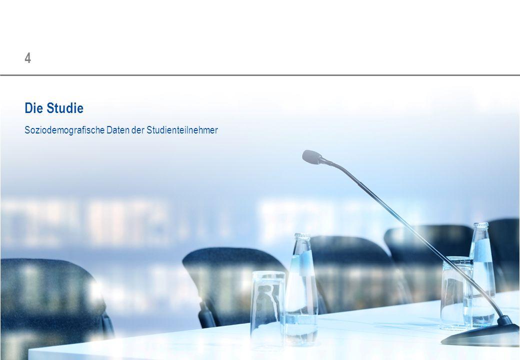 4 Die Studie Soziodemografische Daten der Studienteilnehmer