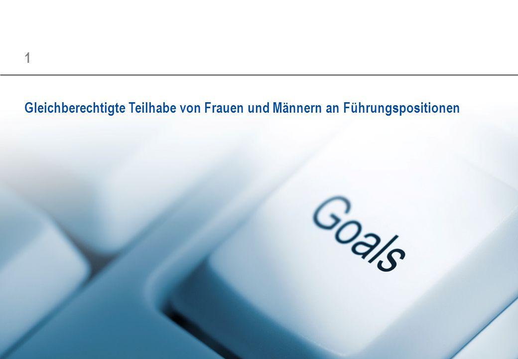 Status Quo und Zielsetzung für die erste Berichtsperiode Dokumentname/Projektname 7 Gleichberechtigte Teilhabe von Frauen und Männern an Führungspositionen _FAZIT » Alle befragten Unternehmen haben sich Ziele gesetzt.