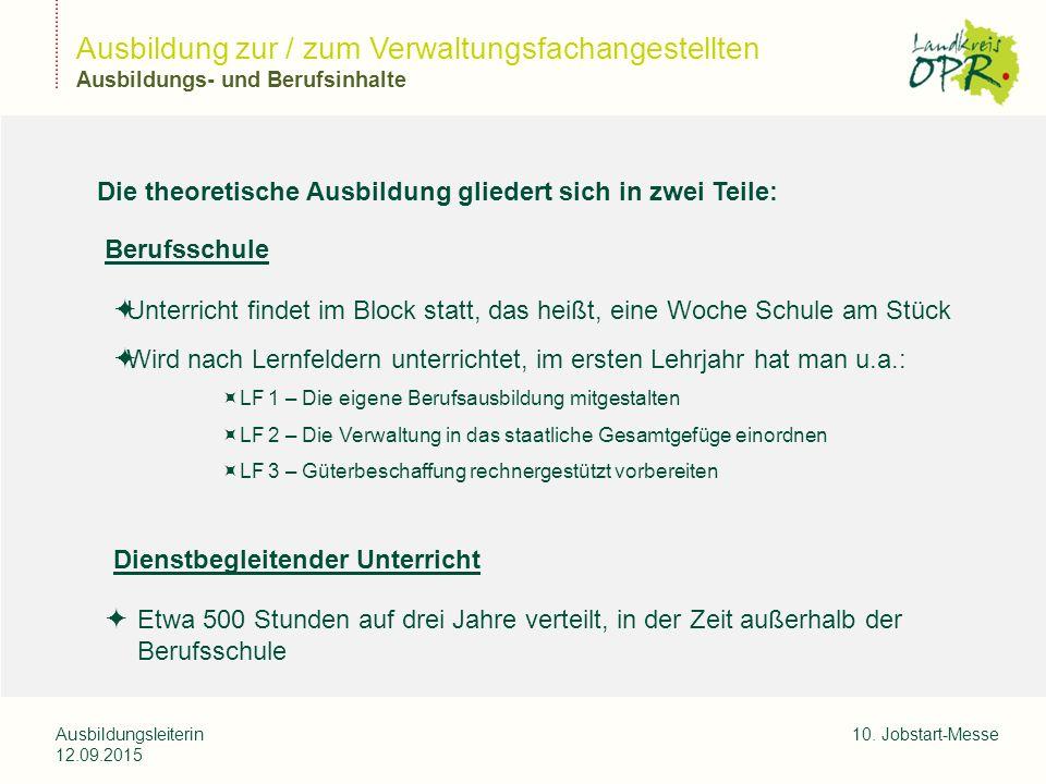Landkreis Ostprignitz-Ruppi n Ausbildungsleiterin 12.09.2015 10.