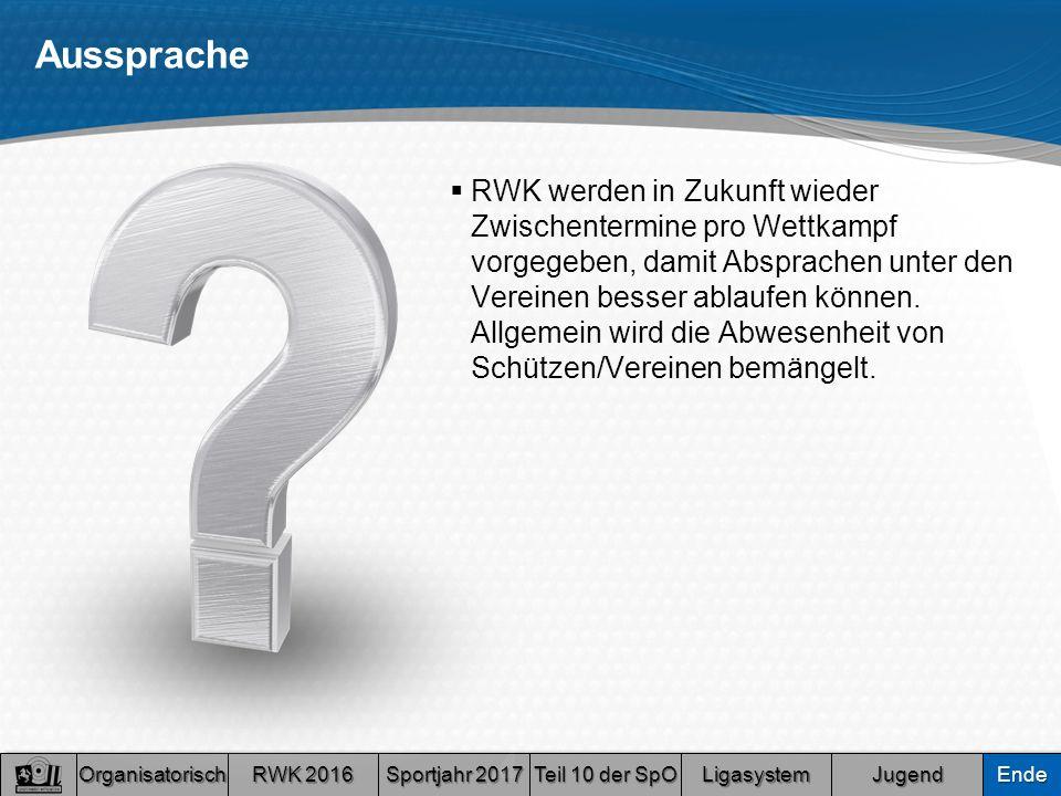 Aussprache  RWK werden in Zukunft wieder Zwischentermine pro Wettkampf vorgegeben, damit Absprachen unter den Vereinen besser ablaufen können.
