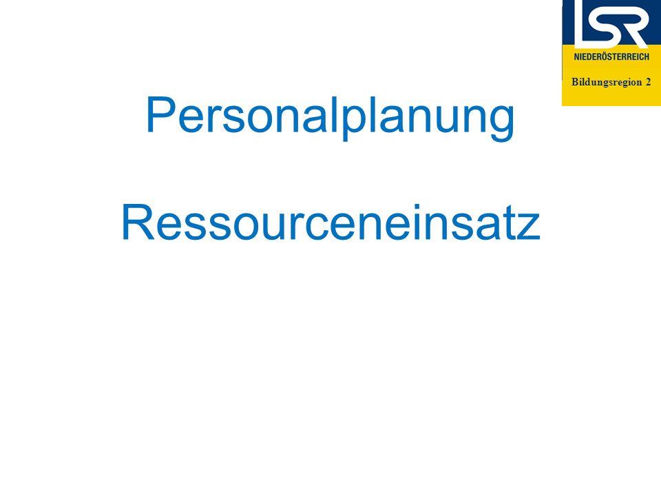 Personalplanung Ressourceneinsatz Bildungsregion 2