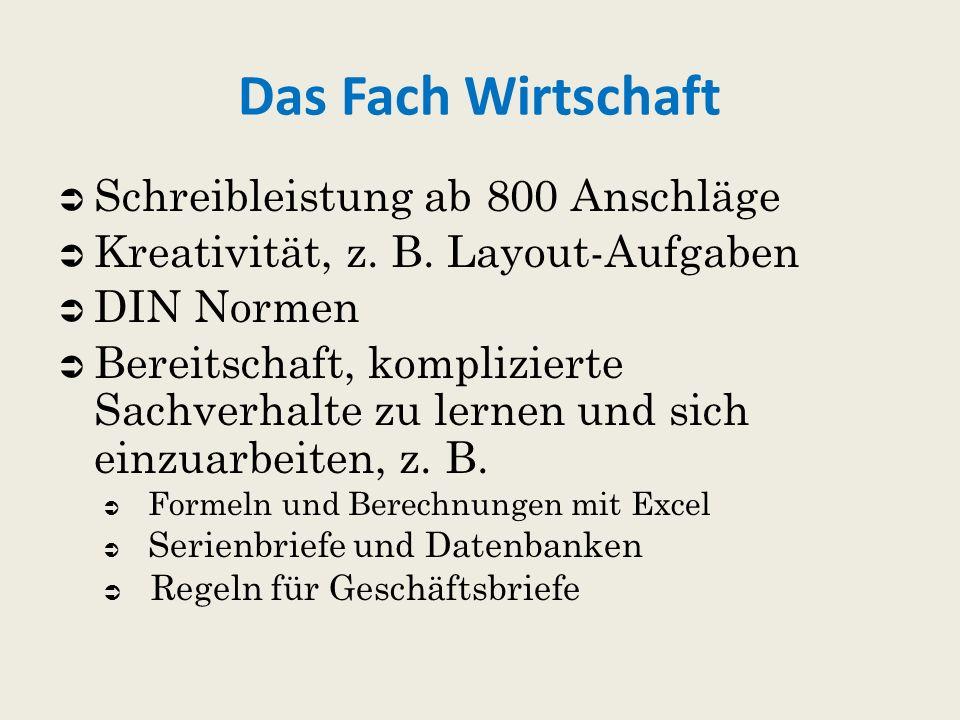  Schreibleistung ab 800 Anschläge  Kreativität, z.