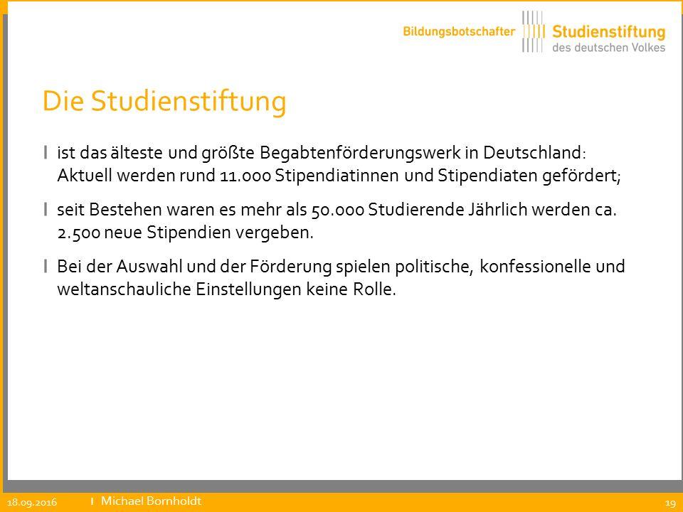 Die Studienstiftung ı ist das älteste und größte Begabtenförderungswerk in Deutschland: Aktuell werden rund 11.000 Stipendiatinnen und Stipendiaten ge