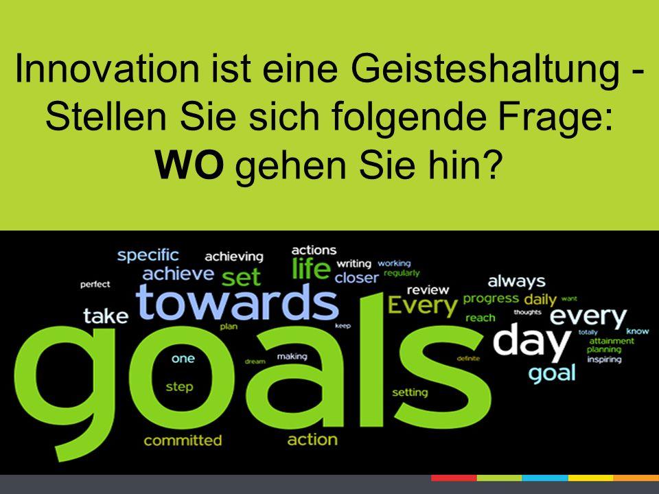 Innovation ist eine Geisteshaltung - Stellen Sie sich folgende Frage: WO gehen Sie hin?