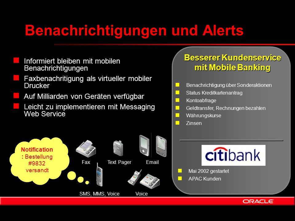 Benachrichtigungen und Alerts n Informiert bleiben mit mobilen Benachrichtigungen n Faxbenachritigung als virtueller mobiler Drucker n Auf Milliarden