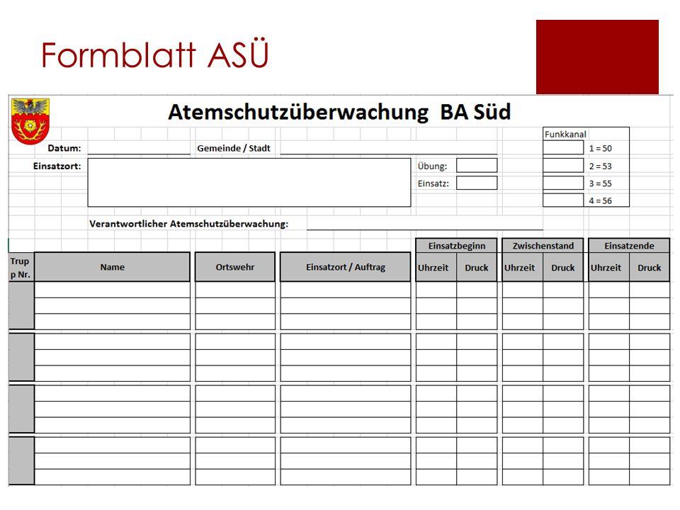 Formblatt ASÜ
