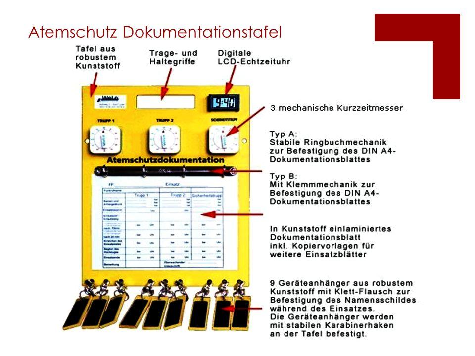 Atemschutz Dokumentationstafel