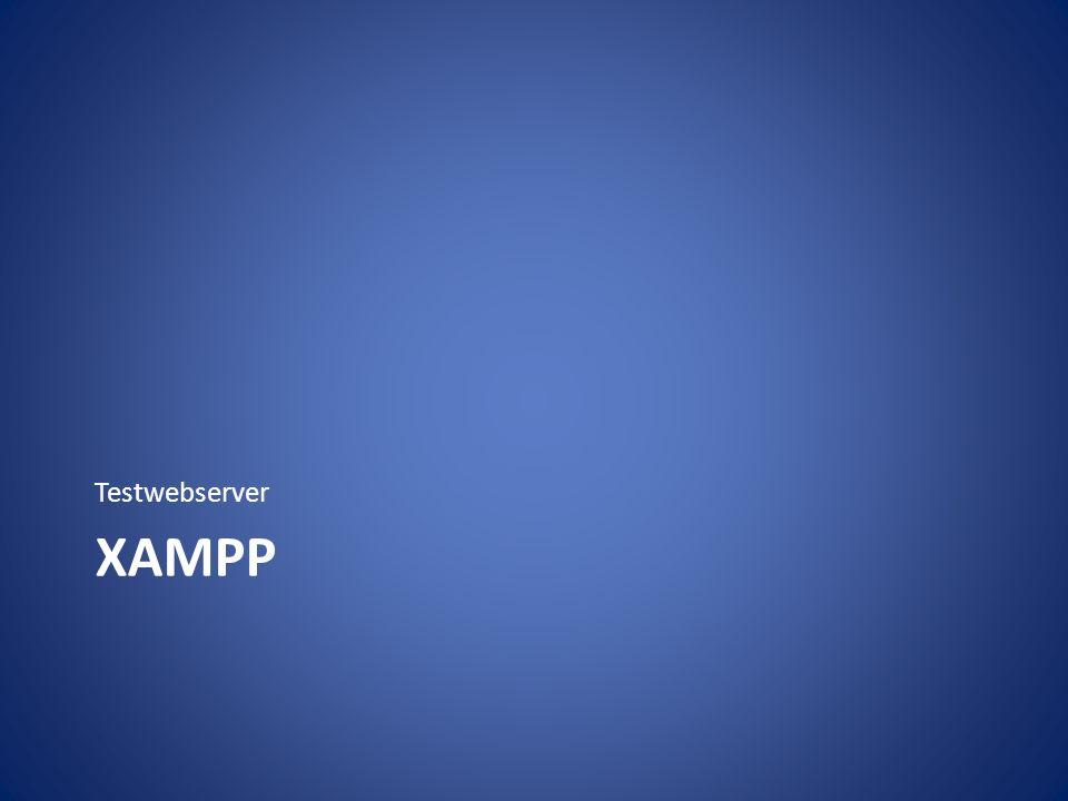 XAMPP Testwebserver