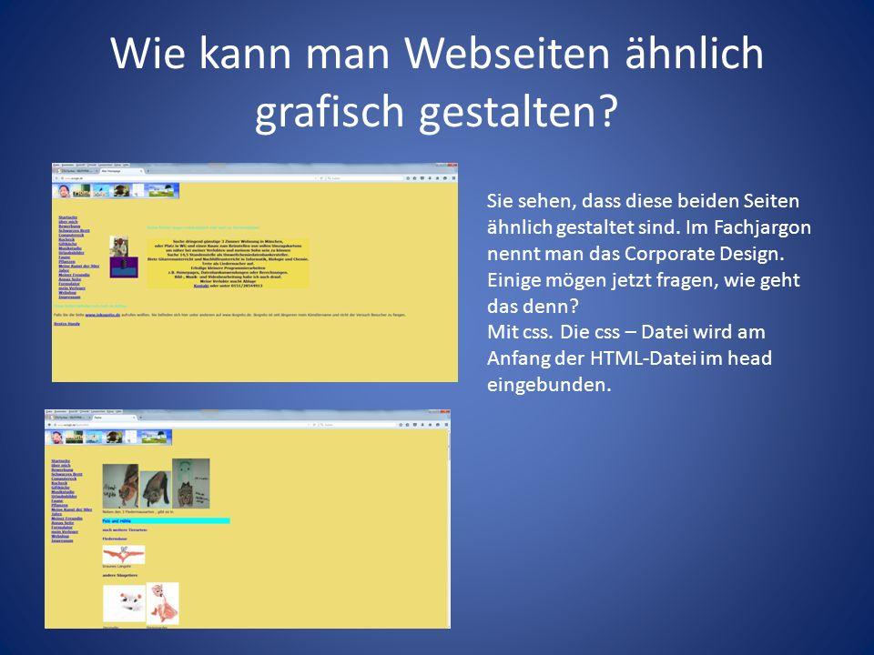 Wie kann man Webseiten ähnlich grafisch gestalten.