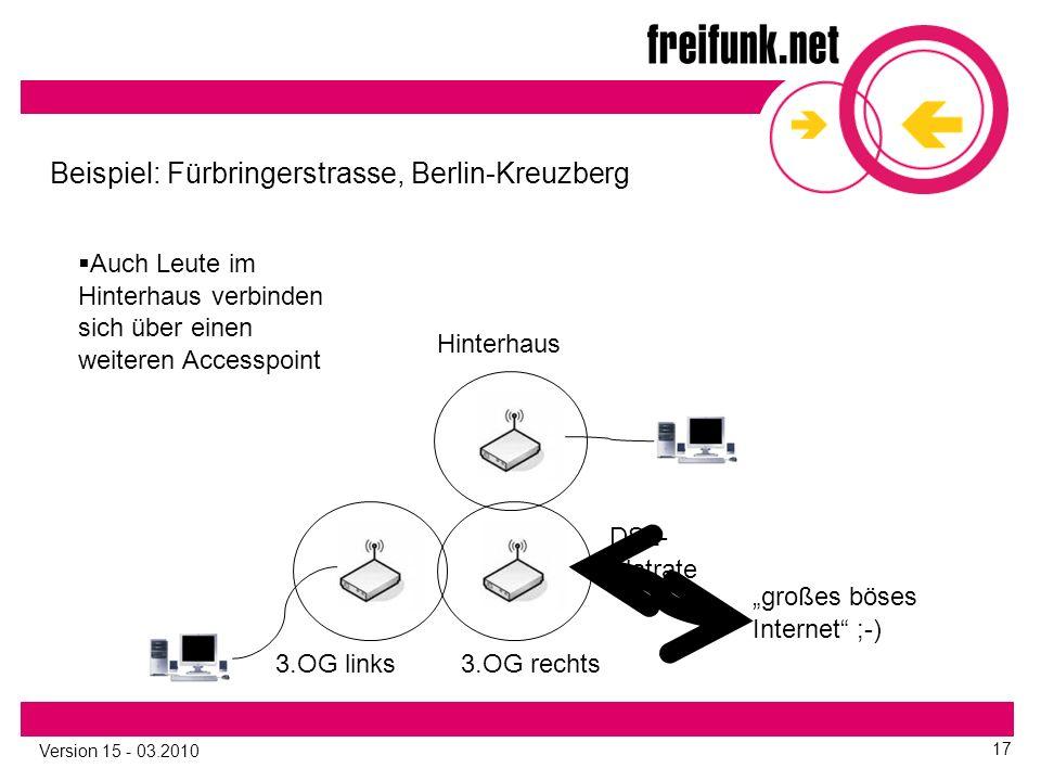 """Version 15 - 03.2010 17 3.OG links Beispiel: Fürbringerstrasse, Berlin-Kreuzberg 3.OG rechts """"großes böses Internet ;-) DSL- Flatrate Hinterhaus  Auch Leute im Hinterhaus verbinden sich über einen weiteren Accesspoint"""