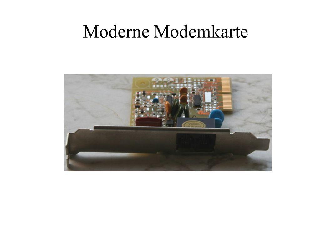 Moderne Modemkarte