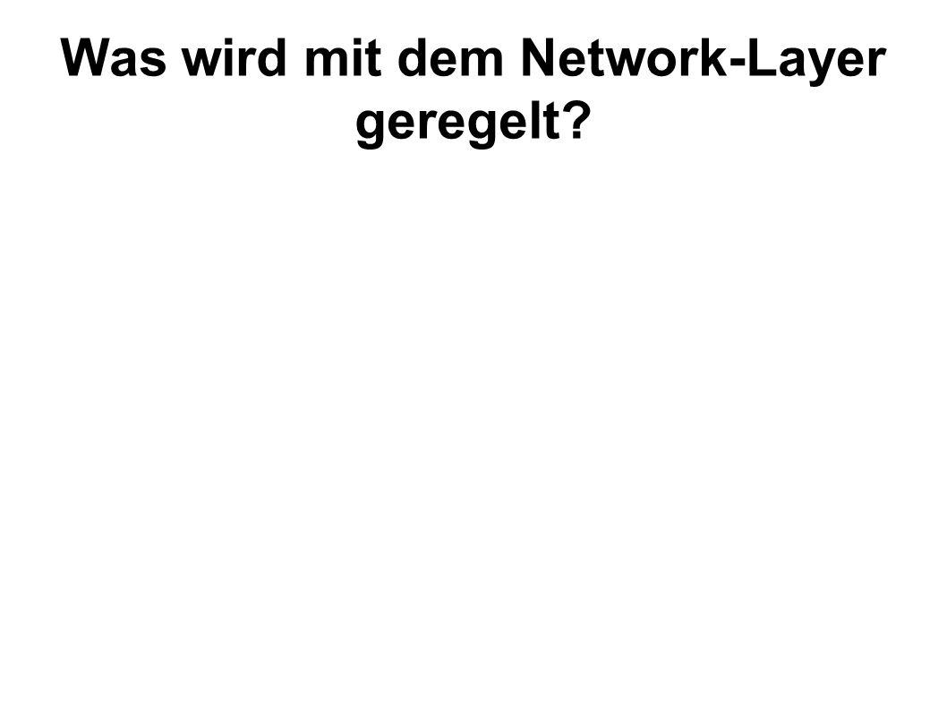Die prinzipielle Kommunikation der Computer in einem großen Netzwerk wie dem Internet.