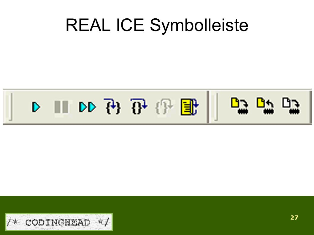 27 REAL ICE Symbolleiste