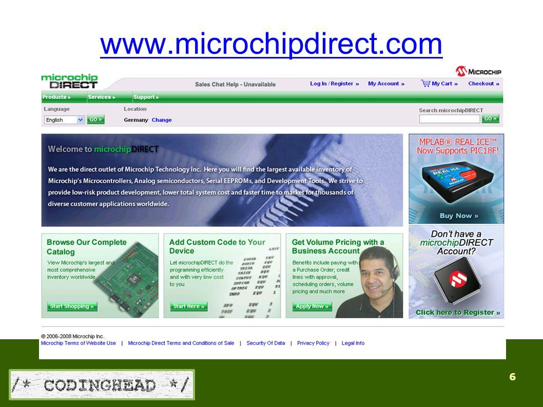 6 www.microchipdirect.com