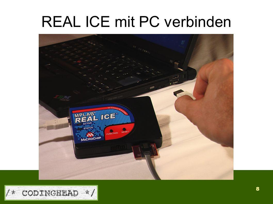 8 REAL ICE mit PC verbinden