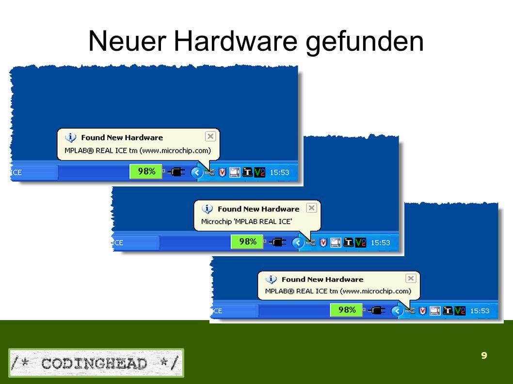 9 Neuer Hardware gefunden