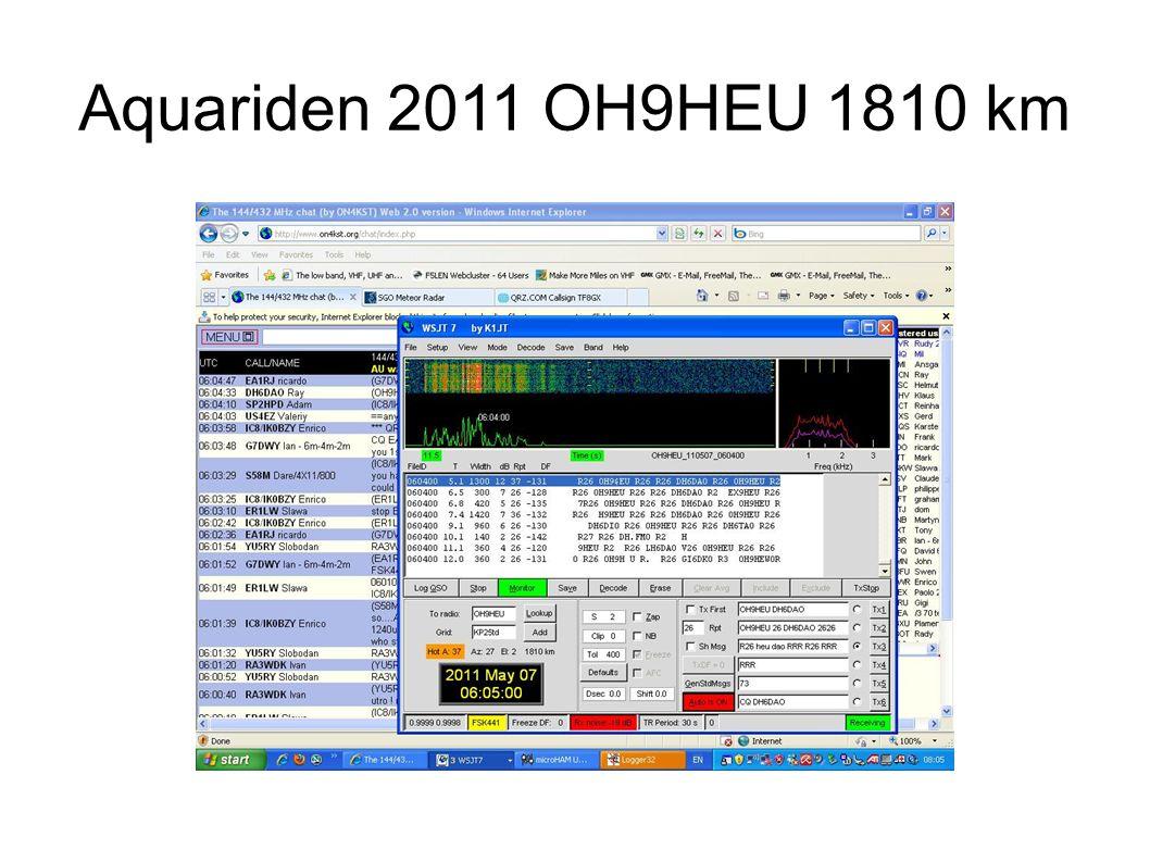 Aquariden 2011 OH9HEU 1810 km