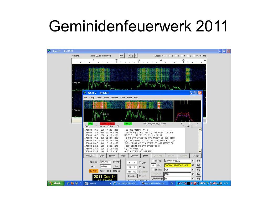 Geminidenfeuerwerk 2011