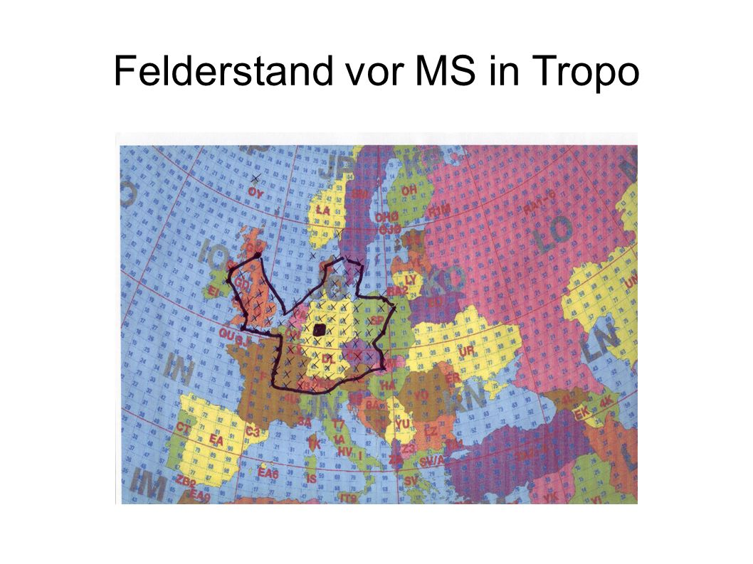Felderstand vor MS in Tropo
