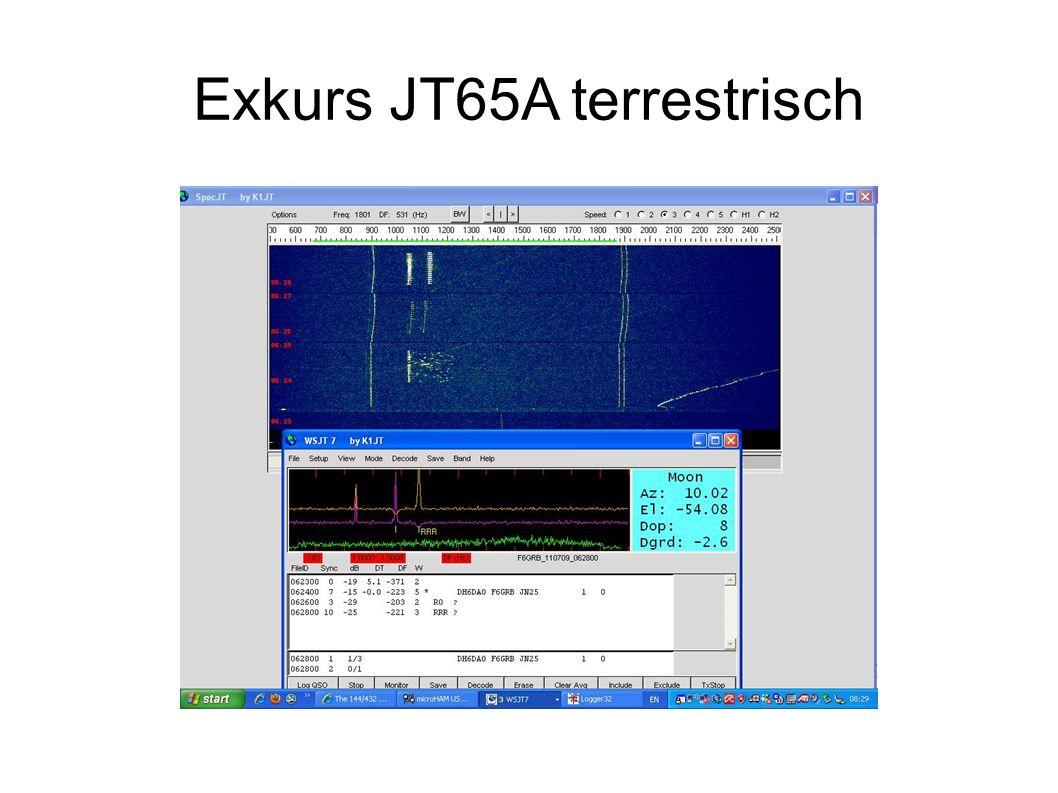 Exkurs JT65A terrestrisch