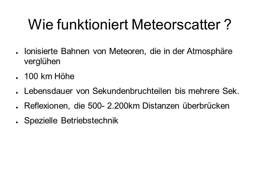 Wie funktioniert Meteorscatter .