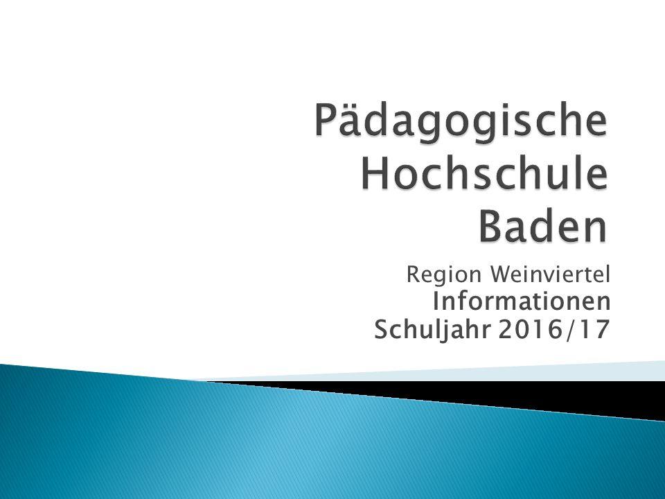 Region Weinviertel Informationen Schuljahr 2016/17