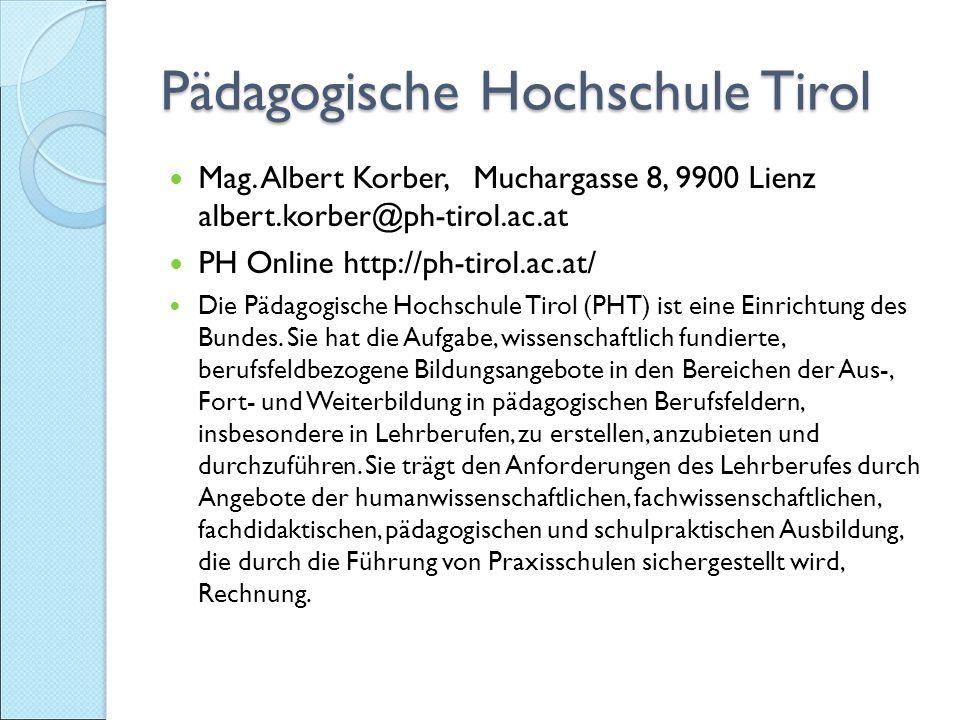 Pädagogische Hochschule Tirol Mag.