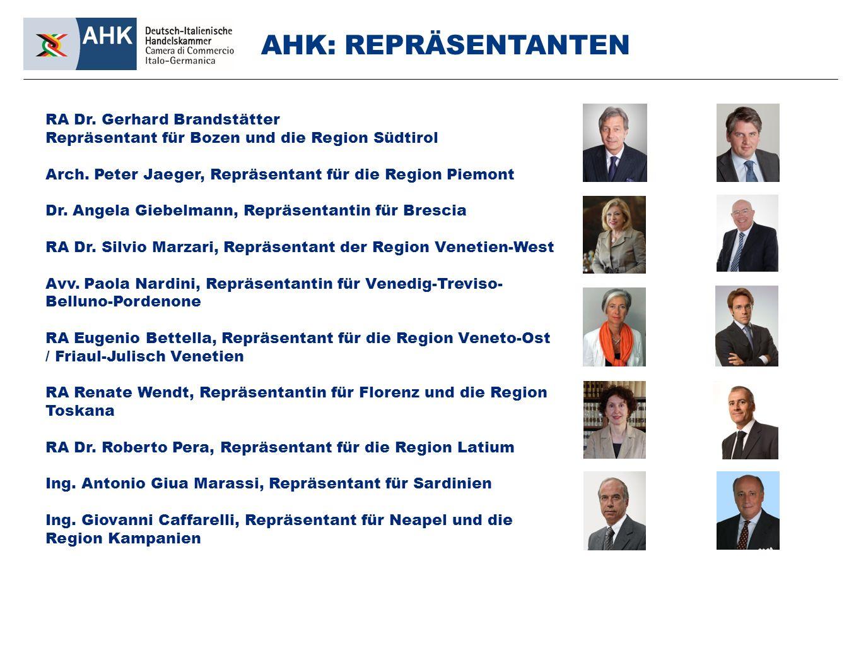 RA Dr. Gerhard Brandstätter Repräsentant für Bozen und die Region Südtirol Arch.