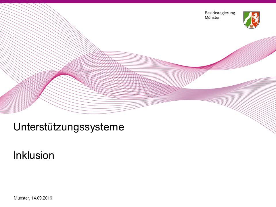 Unterstützungssysteme Inklusion Münster, 14.09.2016