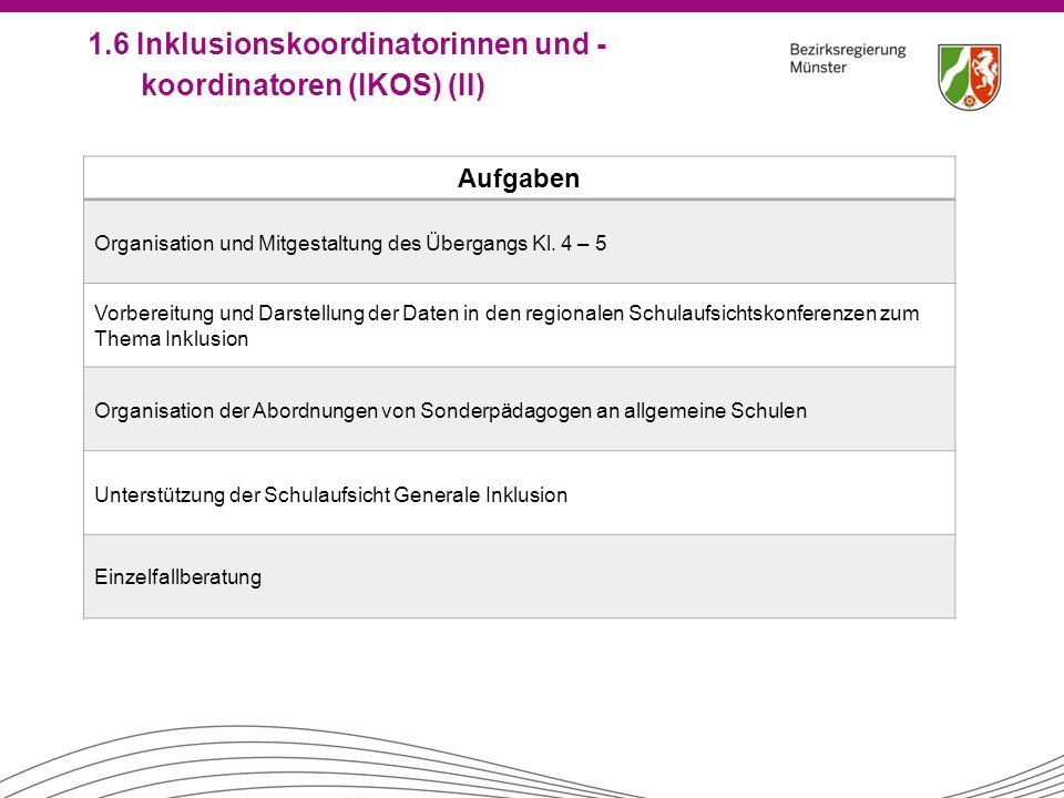 Aufgaben Organisation und Mitgestaltung des Übergangs Kl. 4 – 5 Vorbereitung und Darstellung der Daten in den regionalen Schulaufsichtskonferenzen zum