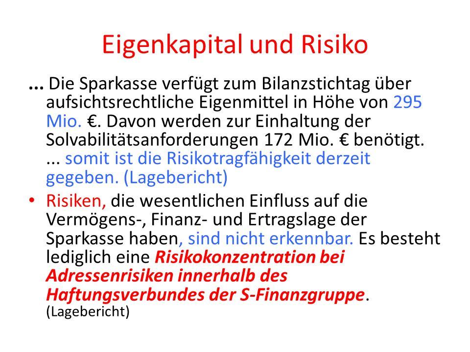 Eigenkapital und Risiko...