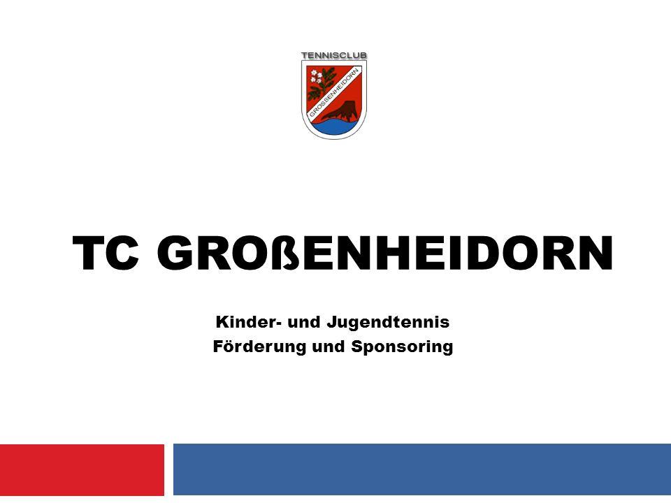 TC GROßENHEIDORN Kinder- und Jugendtennis Förderung und Sponsoring