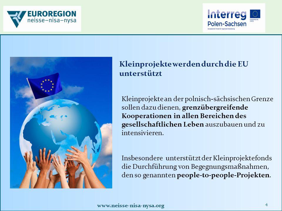 """www.neisse-nisa-nysa.org 25 1.Homepage der Euroregion Neisse www.neisse-nisa-nysa.org aufrufenwww.neisse-nisa-nysa.org 2.Button """"Antragsformulare anklicken oder unter Förderfonds bearbeiten 3.als Antragsteller registrieren, E-Mail und eigenes Kennwort eingeben und den Hinweisen im Programm folgen 4."""