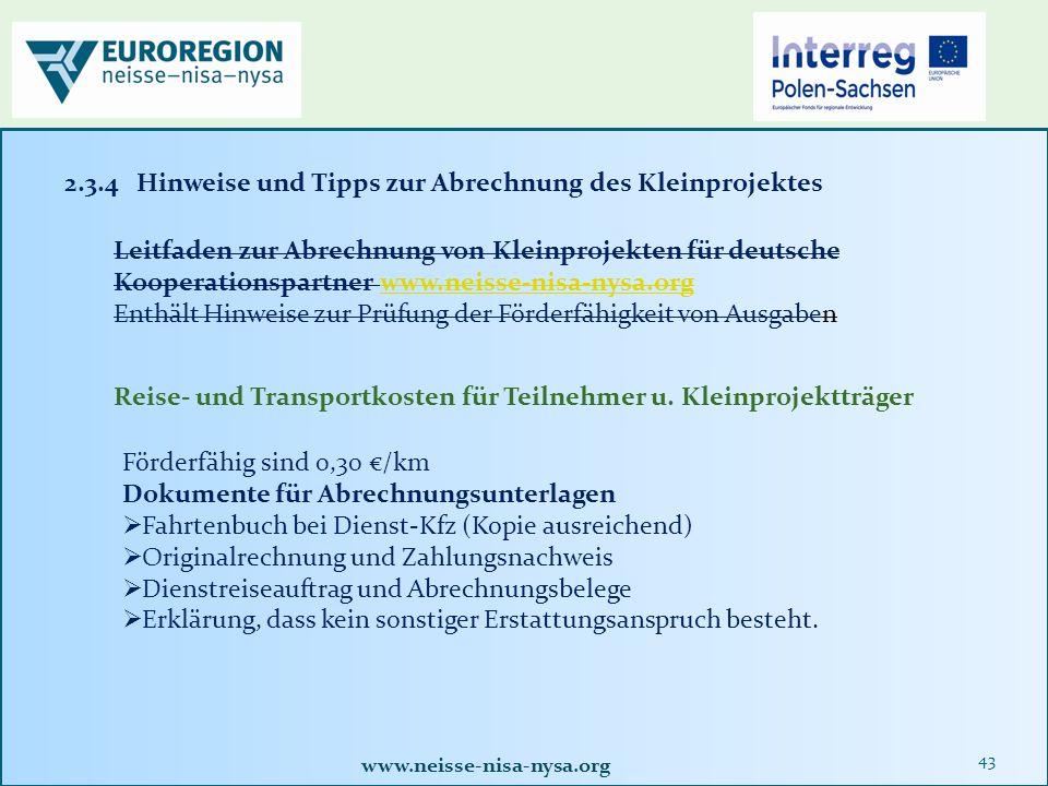 www.neisse-nisa-nysa.org 43 Reise- und Transportkosten für Teilnehmer u.