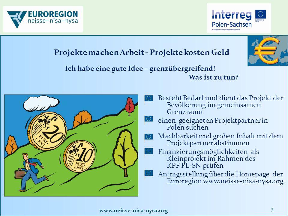 www.neisse-nisa-nysa.org 36 Wie erfolgen Projektkontrollen.