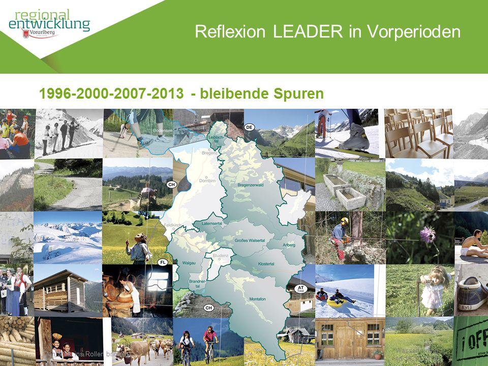 """4 Reflexion LEADER in Vorperioden Wassertrüding en 18.10.2014 1996-2000-2007-2013 - bleibende Spuren """"Den Stein ins Rollen bringen"""""""