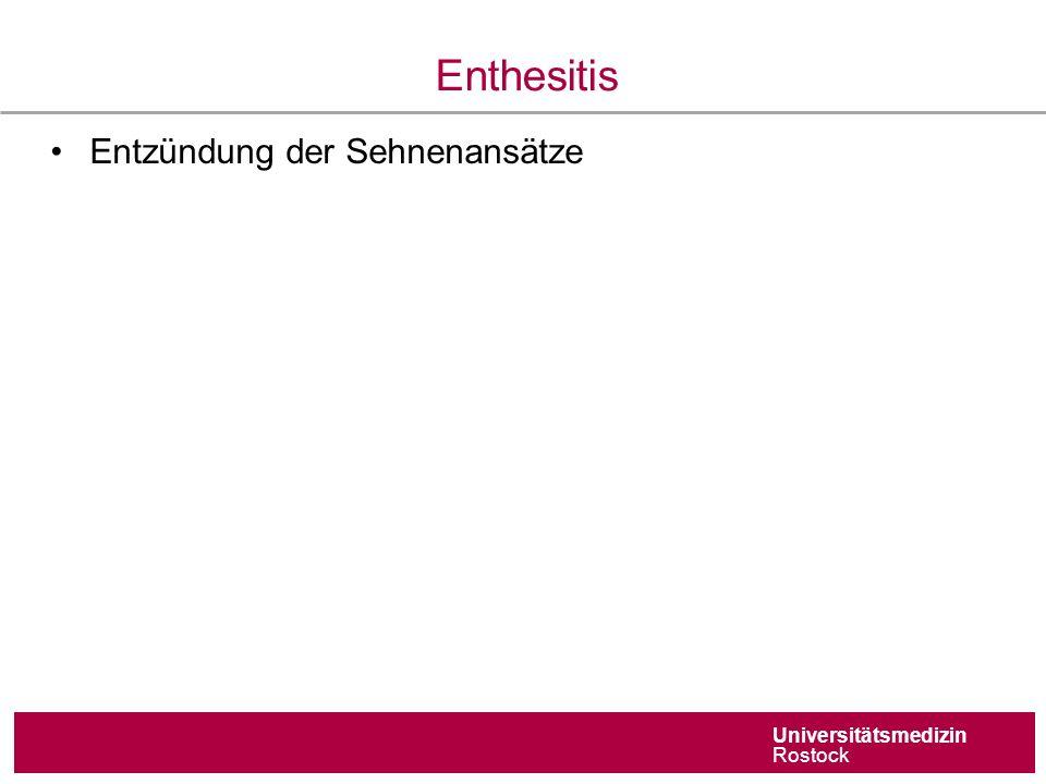 Universitätsmedizin Rostock Enthesitis Entzündung der Sehnenansätze