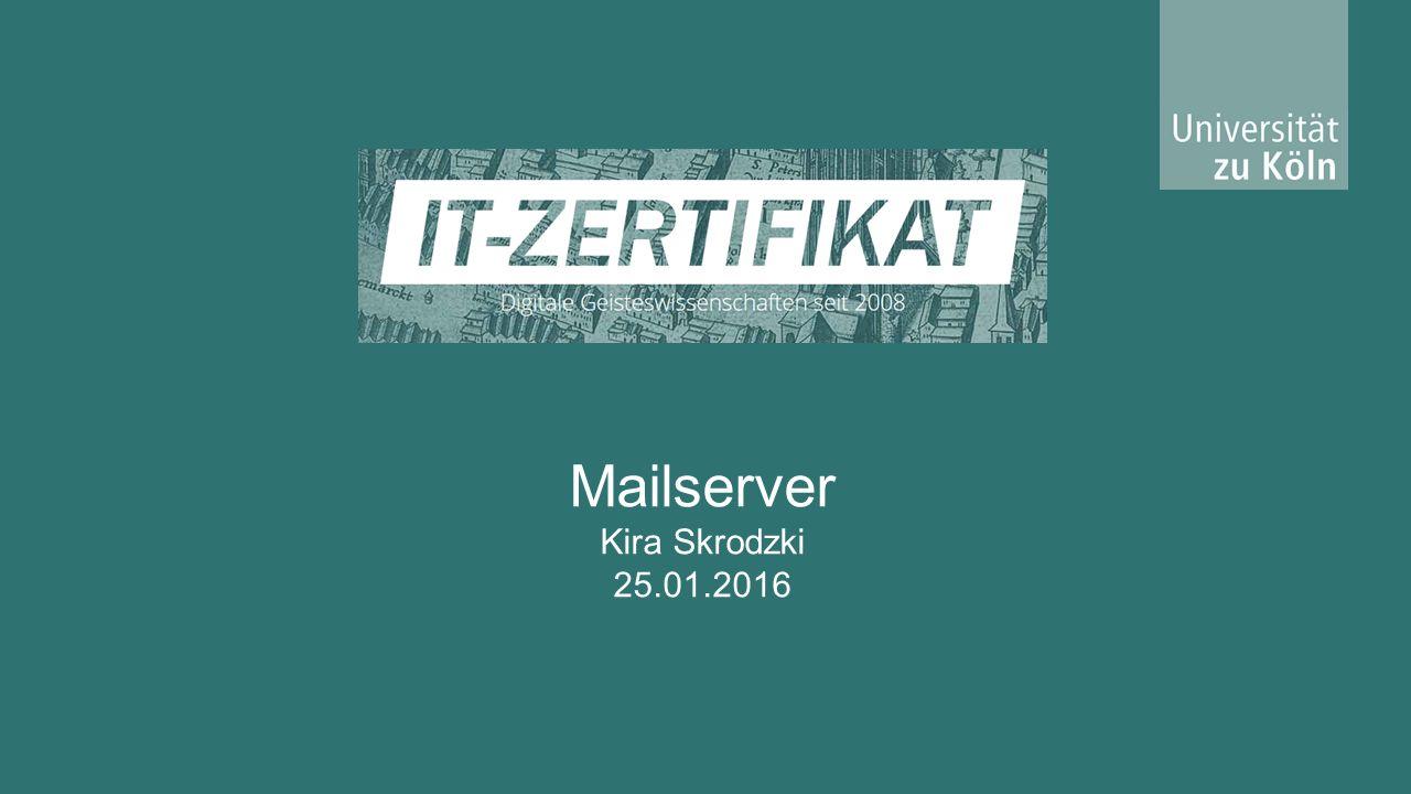 Definition 2 Ein Mail-Server ist ein Server, der Nachrichten und Mitteilungen empfangen, senden, zwischenspeichern und weiterleiten kann.