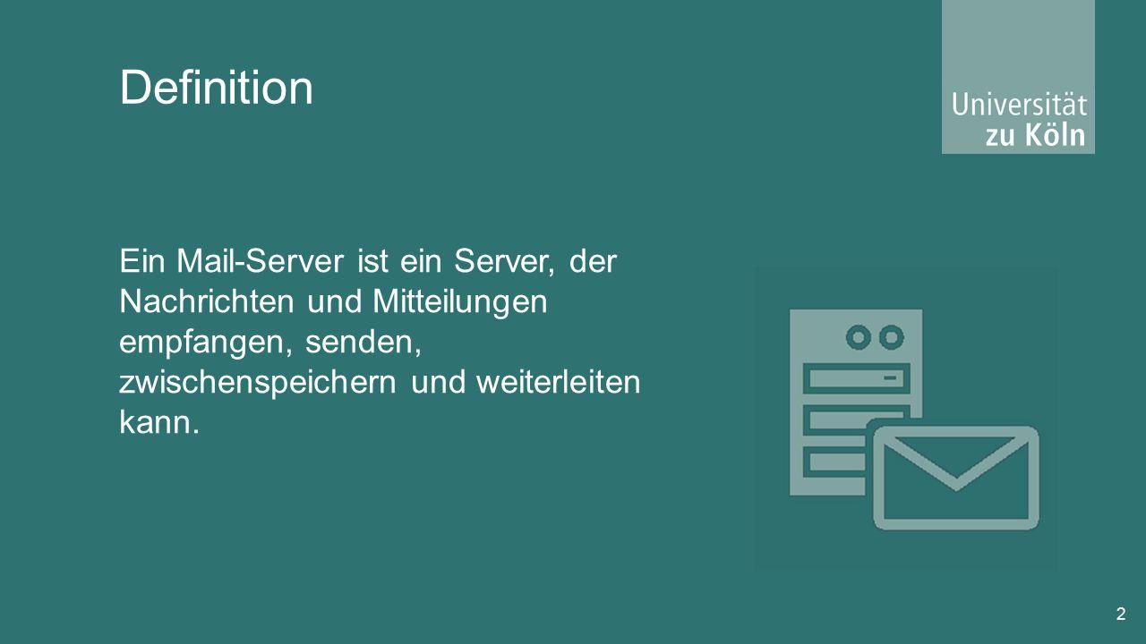Mailserver System 13 Mailserver (MTA Mail Transport Agent) Bsp.: mail.web.de STMP (Simple Mail Transfer Protocol ) DNS Domain Name System Router Bsp.: x@web.de Mailserver (MTA Mail Transport Agent) Bsp.: mail.gmx.de