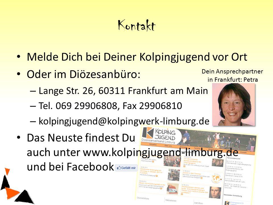 Kontakt Melde Dich bei Deiner Kolpingjugend vor Ort Oder im Diözesanbüro: – Lange Str.