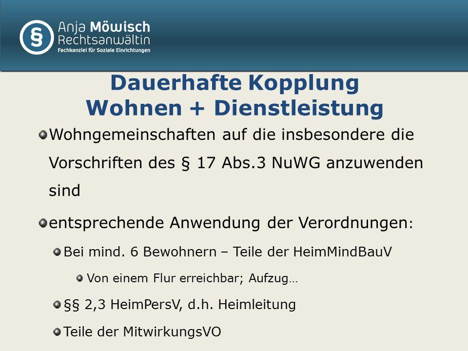 Tagespflege Bleibt im Anwendungsbereich des NuWG Konsequenz: Verordnungsgestaltung .