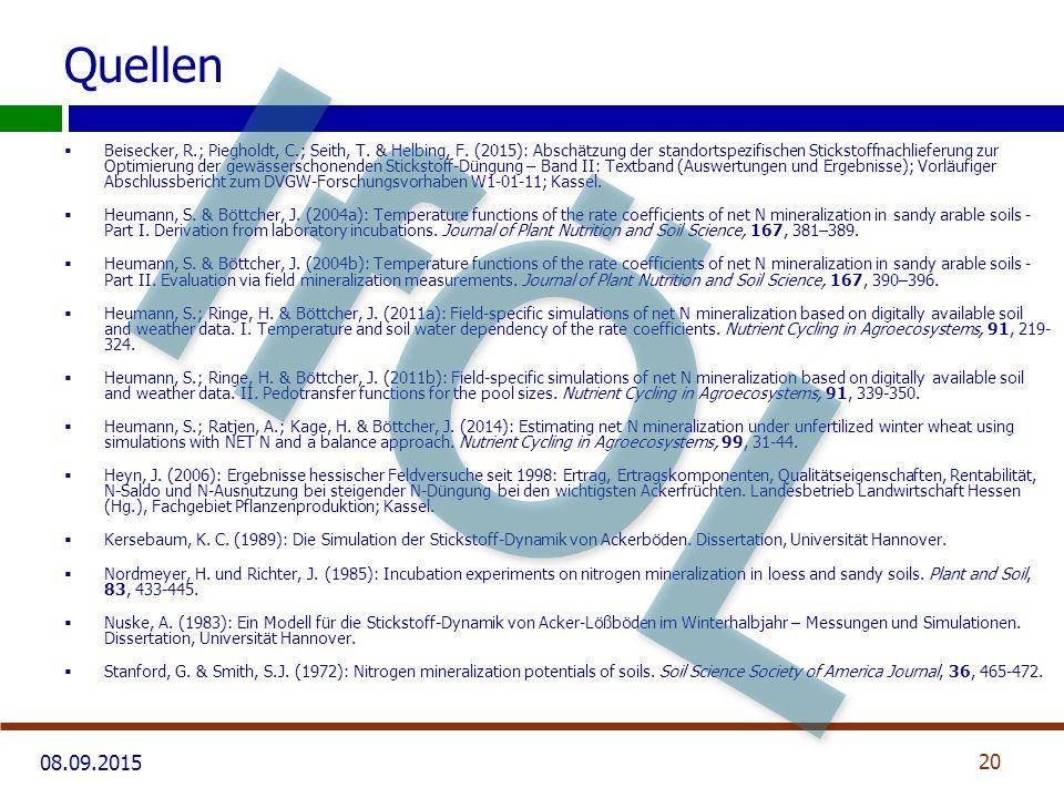 08.09.2015 Quellen  Beisecker, R.; Piegholdt, C.; Seith, T.