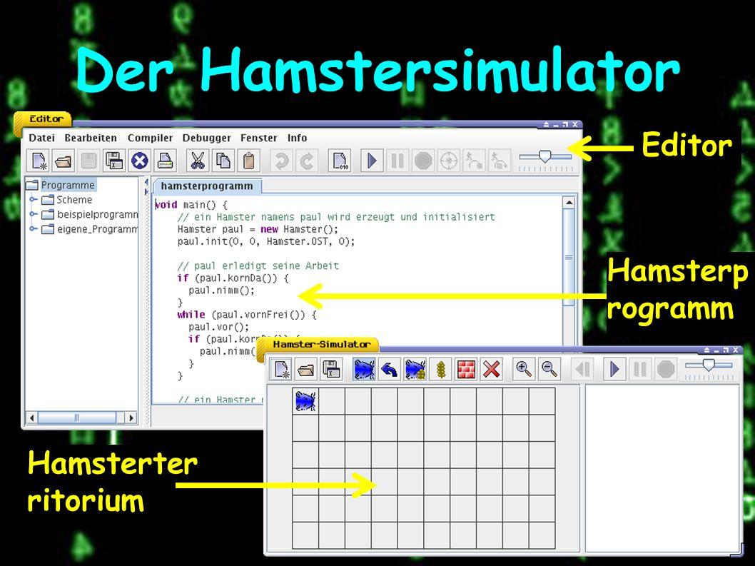 Der Hamstersimulator Editor Hamsterp rogramm Hamsterter ritorium