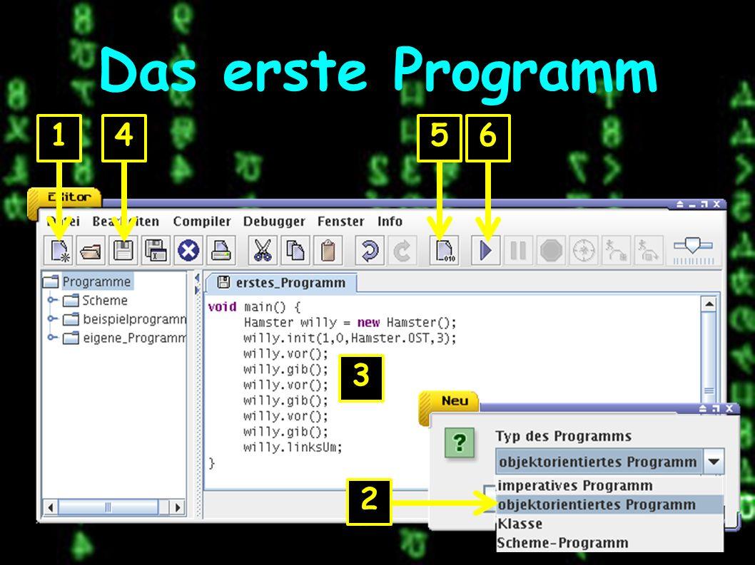 Das erste Programm 1 2 3 456
