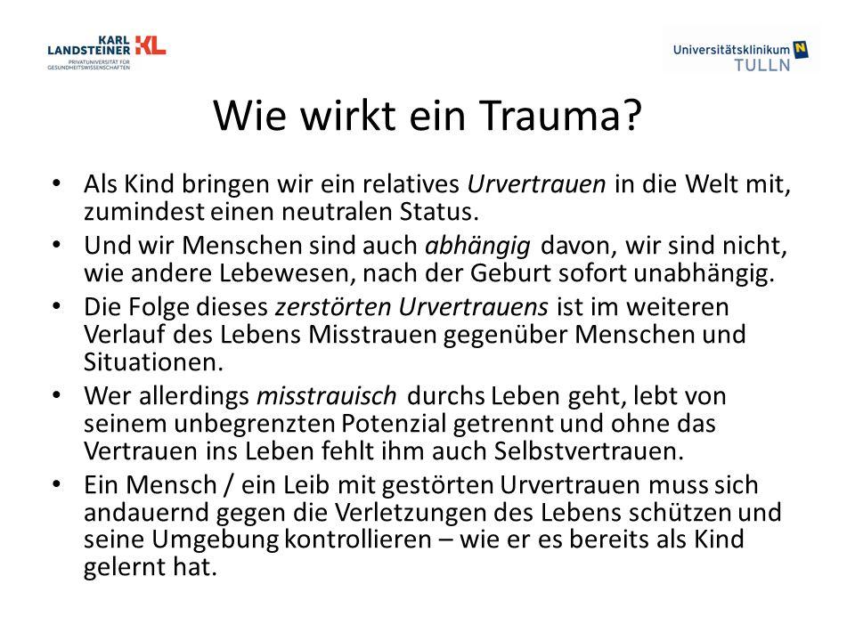 Wie wirkt ein Trauma.