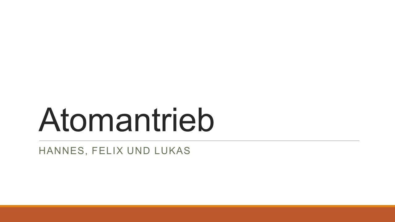 Entwicklung o 1896: ◦1896 entdeckt Antoine Henri Becquerel die Radioaktivität o 1911: ◦Ernest Rutherford entwickelt seine Theorie vom Aufbau des Atoms und vom radioaktiven Zerfall o 1934: ◦Irène und Frédéric Joliot-Curie gelang es durch den Beschuss von Fluor und Natrium mit Alphastrahlen künstliche Radioaktivität auszulösen o 1938: ◦Entdeckungen der Kernspaltung von Uran durch Otto Hahn und Fritz Straßmann o 1939: ◦Joliot, Halban und Kowarski wiesen die bei der Kernspaltung freiwerdenden Neutronen nach, welche eine Kettenreaktion in Gang setzen o 1942: ◦Enrico Fermi konstruiert den ersten Versuchs-Kernreaktor o 1951: ◦Erster Versuchsreaktor, der zum ersten Mal Strom durch Kernenergie erzeugt mit 1,2 MW Otto Hahn