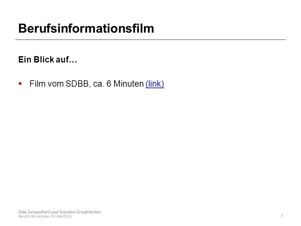 Berufsinformationsfilm Ein Blick auf…  Film vom SDBB, ca.