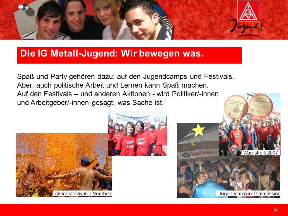 34 Jugendcamp in Thalmässing Aktionsfestival in Nürnberg Spaß und Party gehören dazu: auf den Jugendcamps und Festivals.