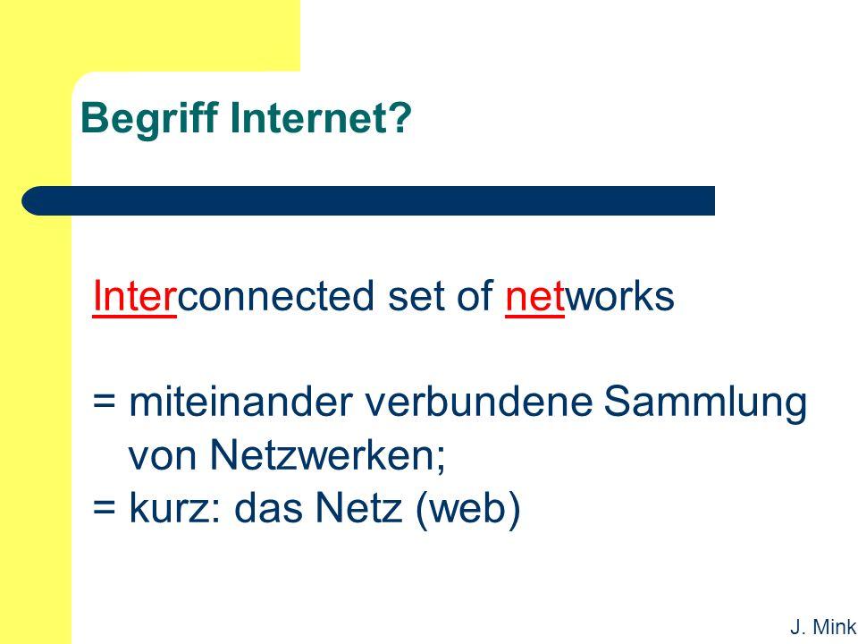 J. Mink Begriff Internet.